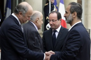 France has officially recognised the newly formed Syrian National Coalition. (AFP PHOTO)