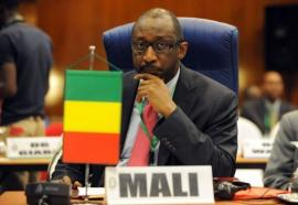 Malian Minister of Foreign Affairs Tieman Coulibaly. (AFP / PIUS UTOMI EKPEI)