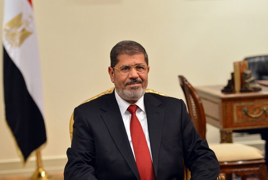 The Egyptian president said that negotiations between Israelis and Palestinians were to be finalised within hours. (AFP PHOTO / KHALED DESOUKI)