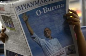Barack Obama will on Monday become the first sitting US president ever to visit Myanmar.(AFP PHOTO)