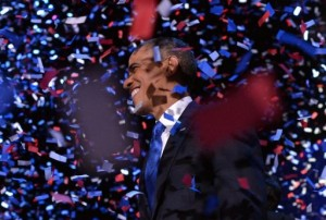 "Obama vowed to ""keep fighting"" as he clinched a second term (AFP, Jewel Samad)"