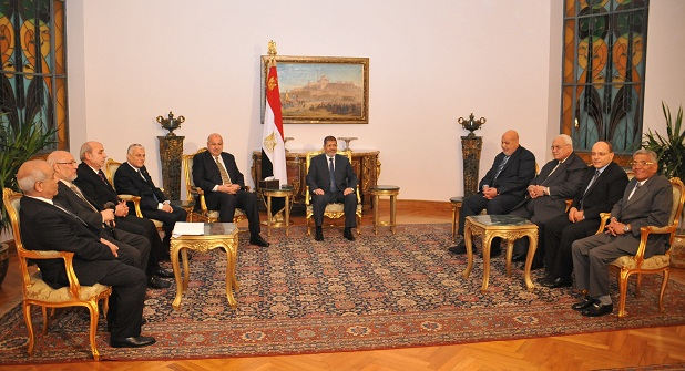 President Morsy is very optimistic that Egypt will overcome the crisis. (Photo courtesy of Presidential Palace)