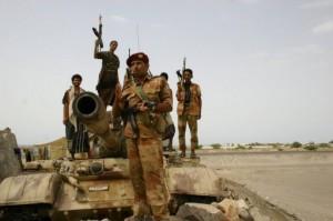 Yemeni army troops patrol in Abyan province. (AFP/ FILE PHOTO)