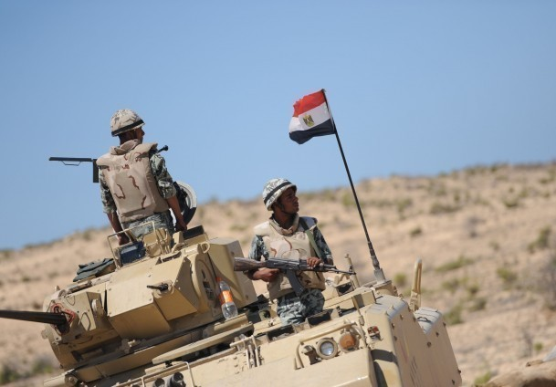 Egyptian Forces have been seen patrolling the borders. Photo by Nasser El Azzazy