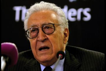 Lakhdar Brahimi is in Cairo as part of his ongoing diplomatic efforts to mediate the conflict in Syria (File photo by AFP PHOTO / ASHRAF SHAZLY)