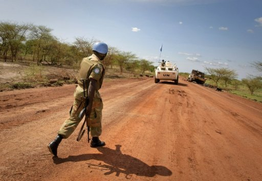 UN peacekeepers patrol the Todach area, north of Abyei (AFP/UNMIS/File, Stuart Price)