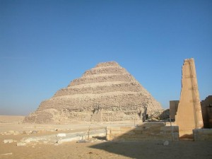 The main pyramid at Saqqara photographed in 1993 Sara Abou Bakr