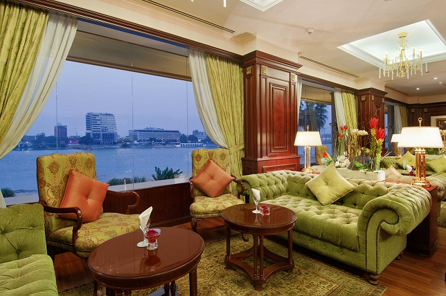 The Tea Time Lounge in Hilton Cairo Zamalek Residences