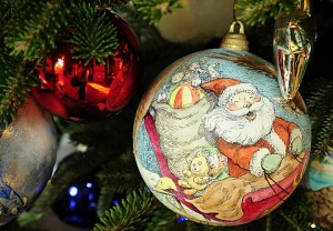 A tree ornament featuring Santa Claus KAREN BLEIER/AFP/Getty Images