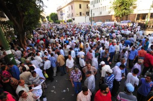 Teachers protest in September 2012 against low wages and the rising cost of living Hassan Ibrahim