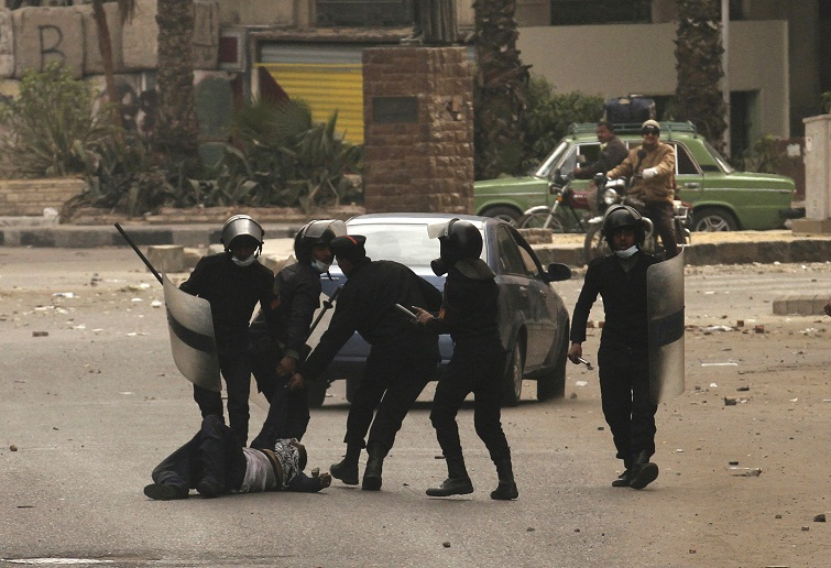 Police brutality might be the reason for Arab's resignation (file photo) AFP Photo / Mohammed Abed