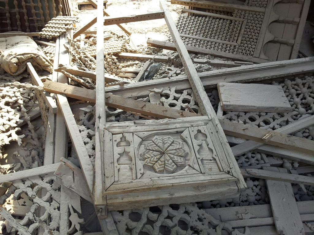 The dilapidated mansion has suffered looting and destruction to its outer structure despite being handled by the Supreme Council of Antiquities. Courtesy of Ahmed El-Bendary