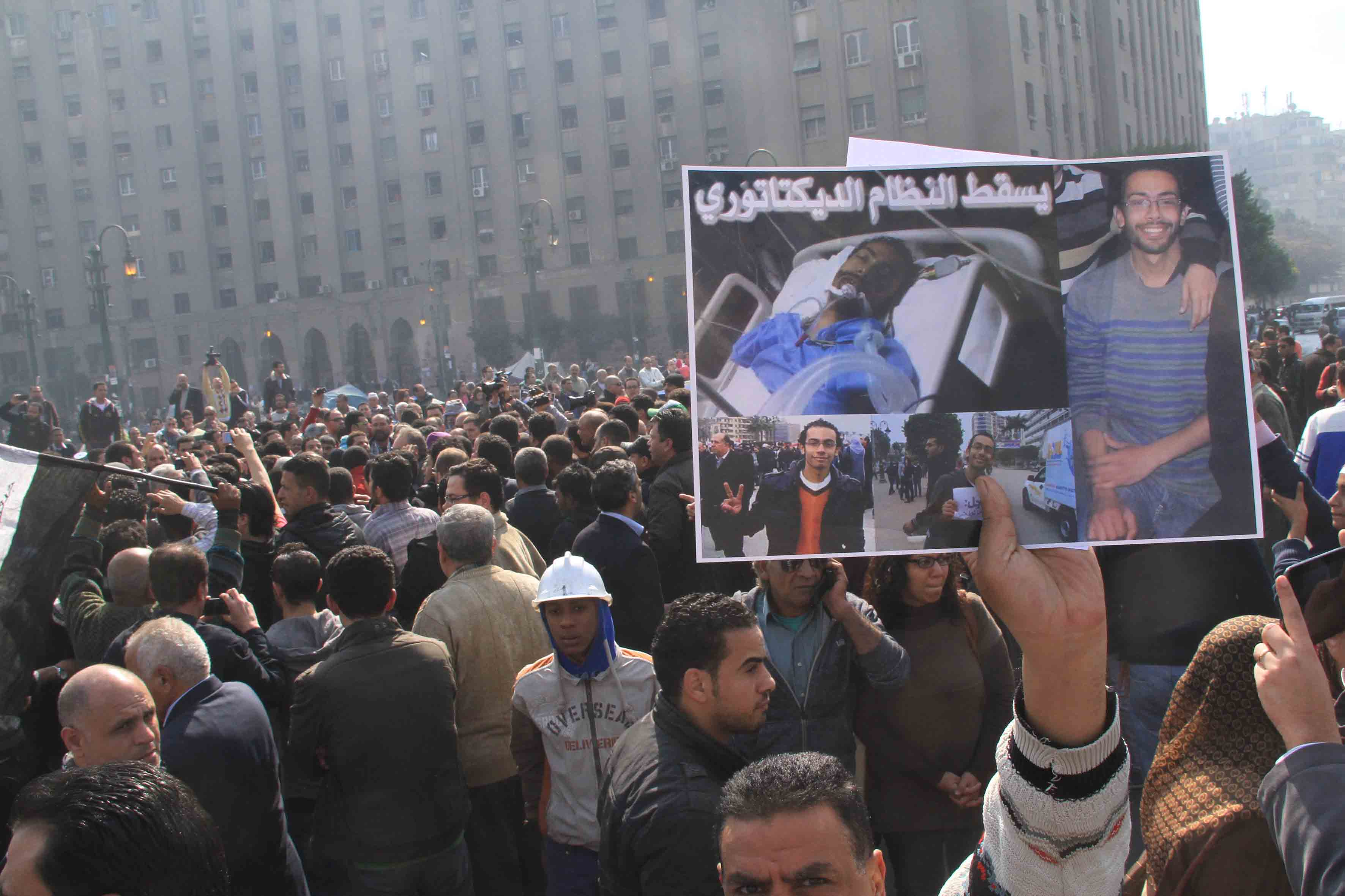 Funeral of the two martyrs Mohammed El-Guindy and Amr Saad in the Mosque of Omar Makram at Tahrir (DNE)