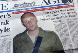 Australian newspapers leading their front pages with the story of Ben Zygier on February 14, 2013 (AFP/File, William West)