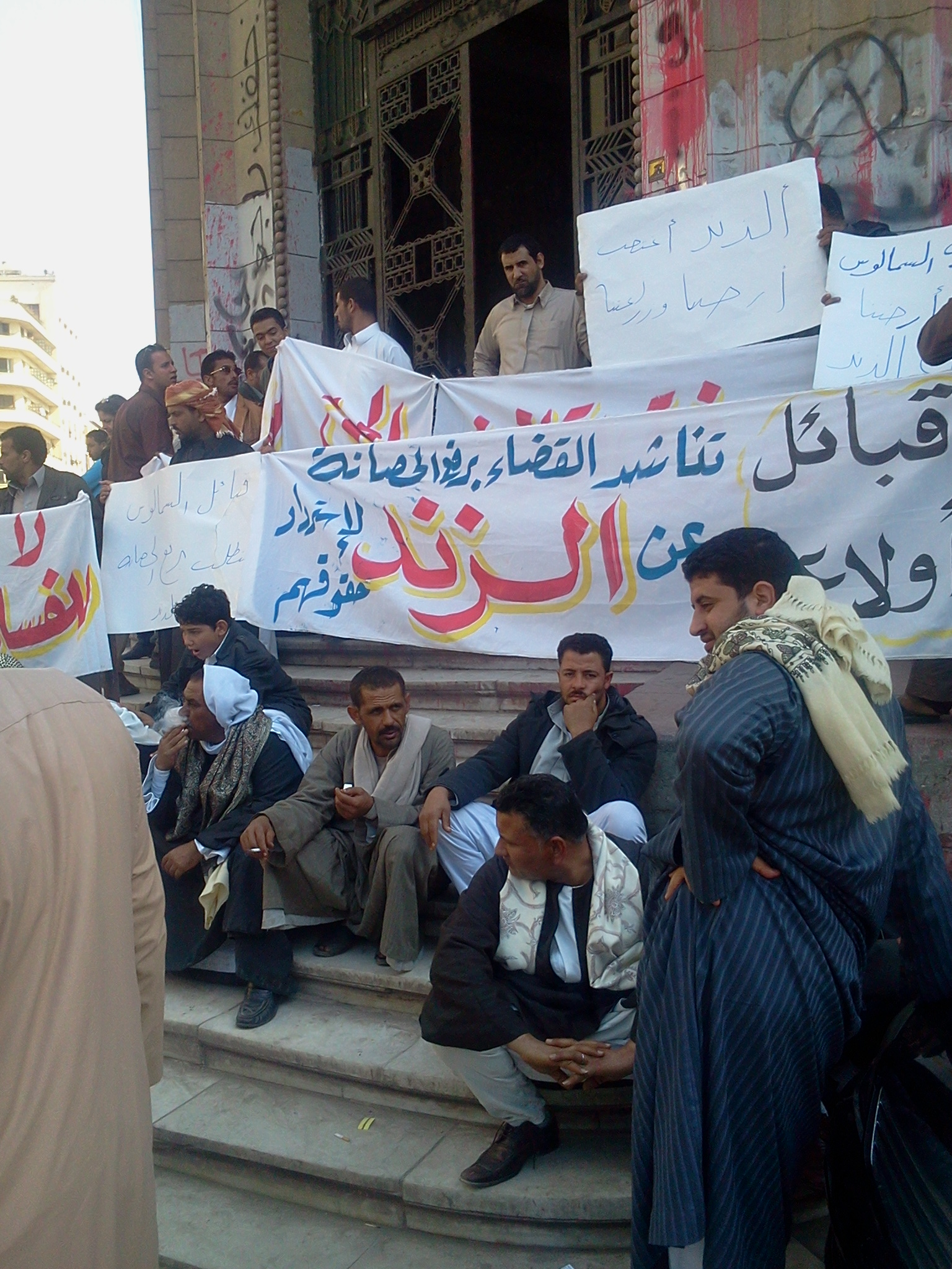 The tribe members accuse El-Zend of illegally seizing 400 feddans of their lands. As he has judicial immunity, they are currently unable to sue him. (Photo By Fady Salah)