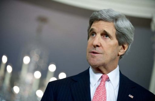 John Kerry, America's top diplomat, has begun his first official trip as secretary of state (AFP/Photo)