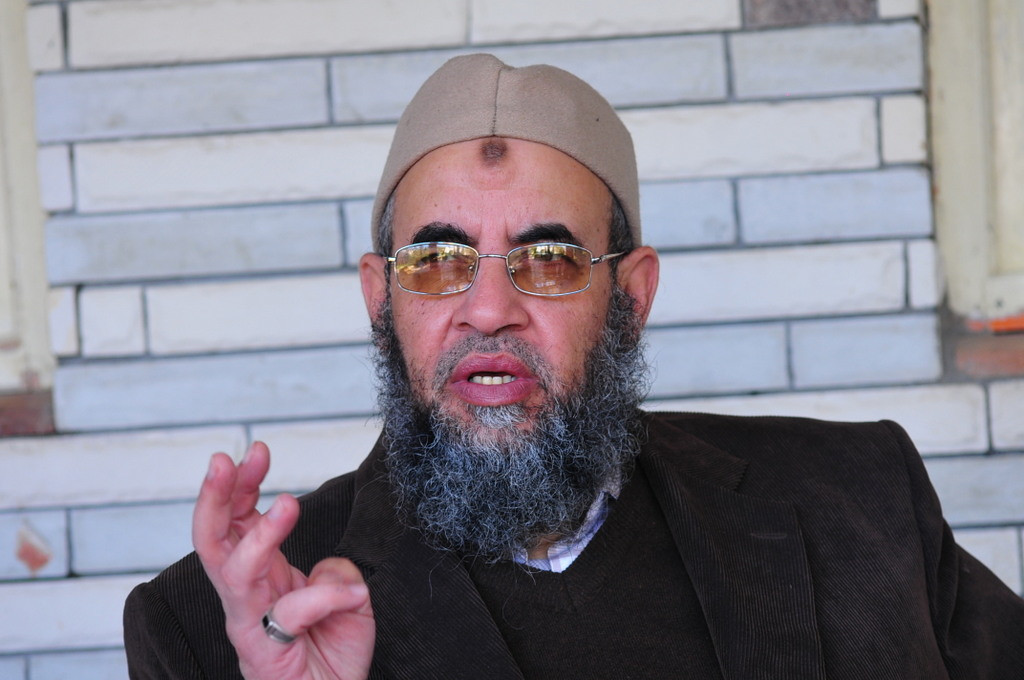 """I call on the president to show evidence and refer the case to the judiciary or to apologise to Dr. Khaled Alam Eddin,"" Younis Makhyoun said. Photo: Younis Makhyoun, leader of the Salafi-inspired Al-Nour Party (DNE/ Hassan Ibrahim)"