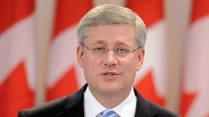 "Prime Minister Stephen Harper listed examples of Shi'a Muslims in Iraq, Coptic Christians in Egypt, Baha'is in Iran, Ahmadis in Paskitan, and Christians and Falun Gong practitioners in China who faced ""repression, imprisonment, and even death."" (AFP\Photo)"