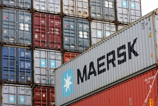 Three of the region's largest maritime shipping lines, CMA-CGM from France, COSCO from China, and MAERSK Line from Denmark, have redirected their cargoes from Port Said to the Israeli port of Eilat (AFP Photo)