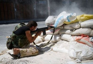 Rebels have seized most of a police academy in Khan al-Assal in Aleppo province ... after eight days of fighting that left 200 troops and rebels dead (AFP Photo)