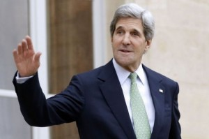 Kerry will meet with head of the Arab League Nabil Al-Arabi and a group of businessmen (AFP Photo)