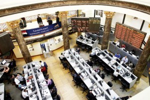 On the Nile stock exchange, the Mediterranean Company and Pioneers Holding ranked joint highest in total amounts of stock traded. (AFP Photo)