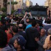 Protesters surround Cairo Security Directorate following driver;s killing by policeman in Darb Al-Ahmar. (Ahmed Hendawy)