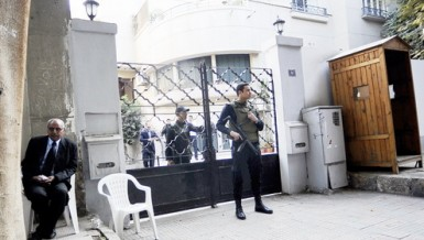 The case dates back to December 2011, when prosecutors, backed by the police, stormed the offices of 17 local and international NGOs. Photo shows a police raid on one of the NGOs DNE photo
