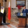 Egypt supports Bahrain and other Gulf countries against any regional threats Egyptian President Abdel Fattah Al-Sisi said Tuesday in a meeting with the Bahraini King Hamad Bin Eissa Al-Khalifa.