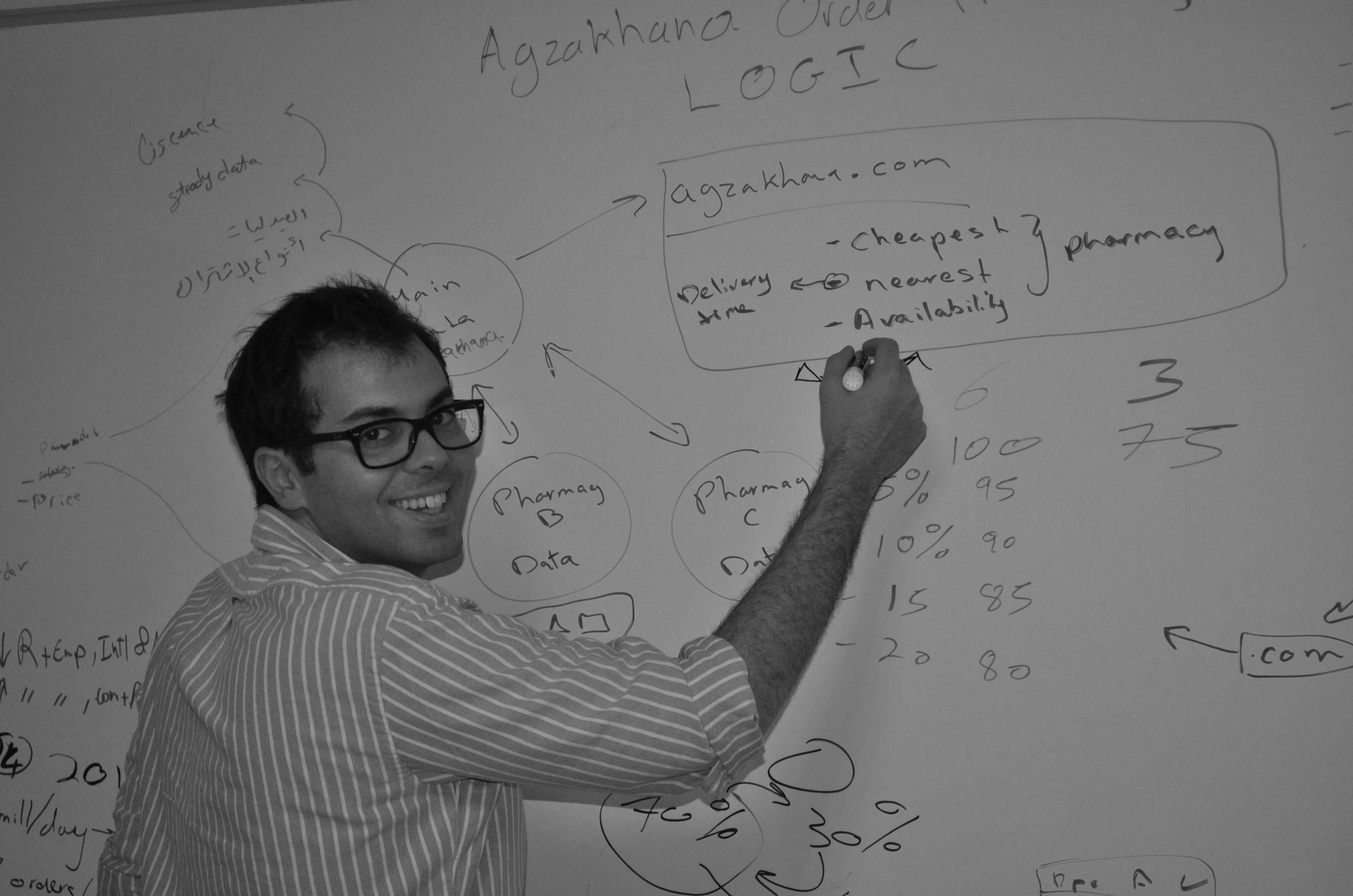 Ahmed Shabana, founder and director of Agzakhana.com (DNE Photo)