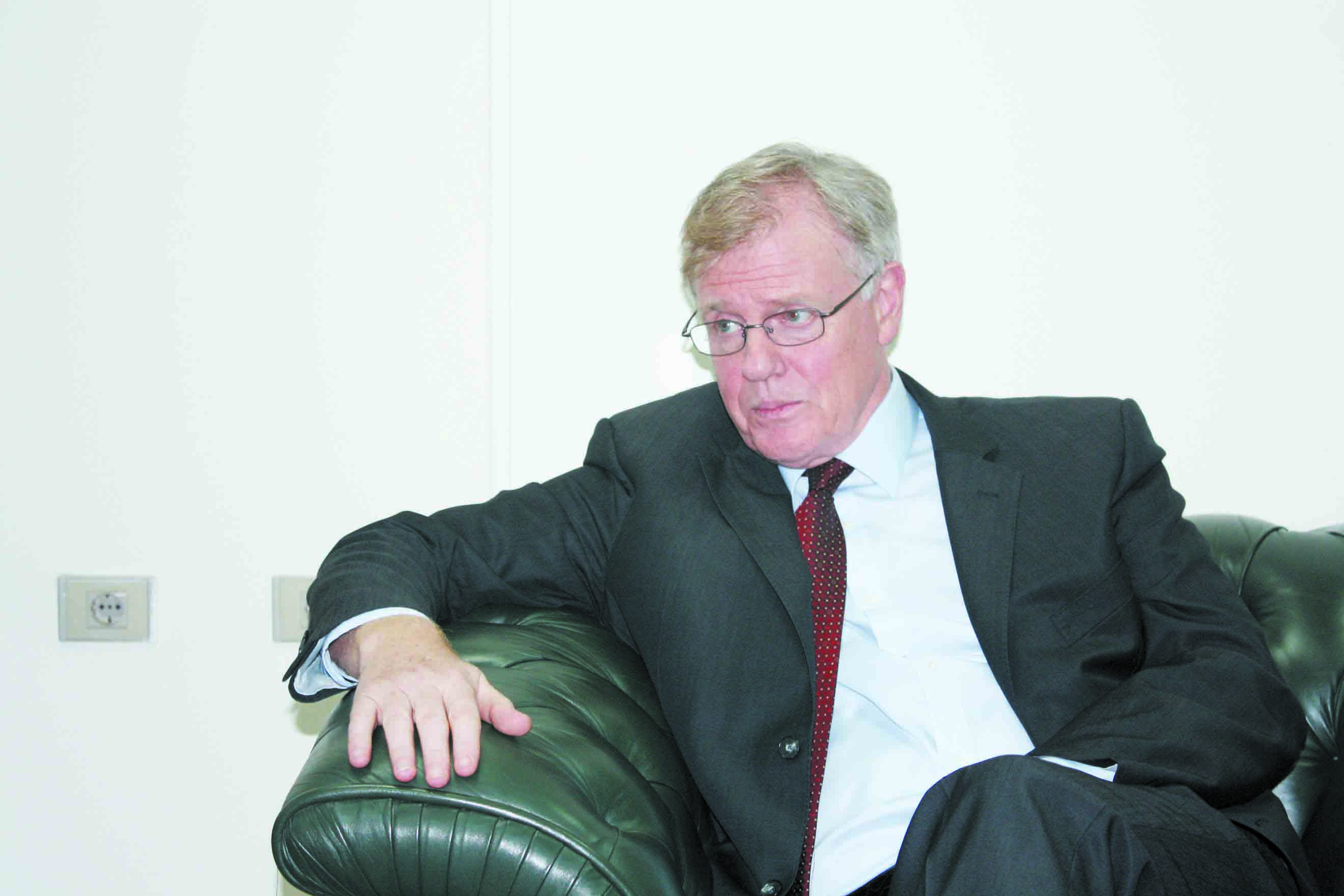 James Moran, the EU's ambassador in Cairo (Photo from Al-Borsa News)