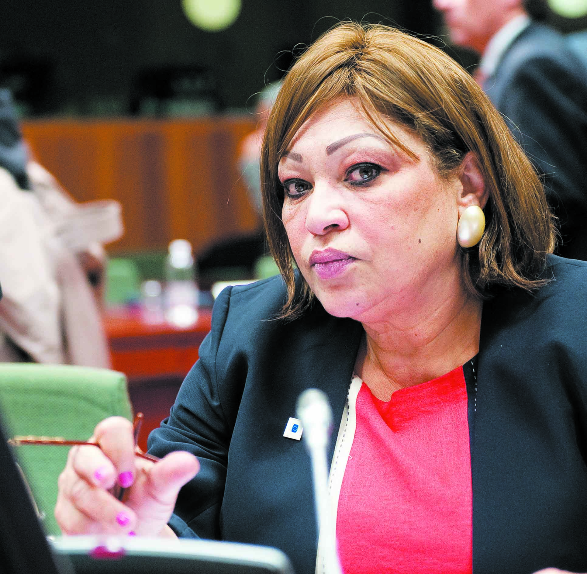 Ambassador Mona Omar (Photo from Al-Borsa News)