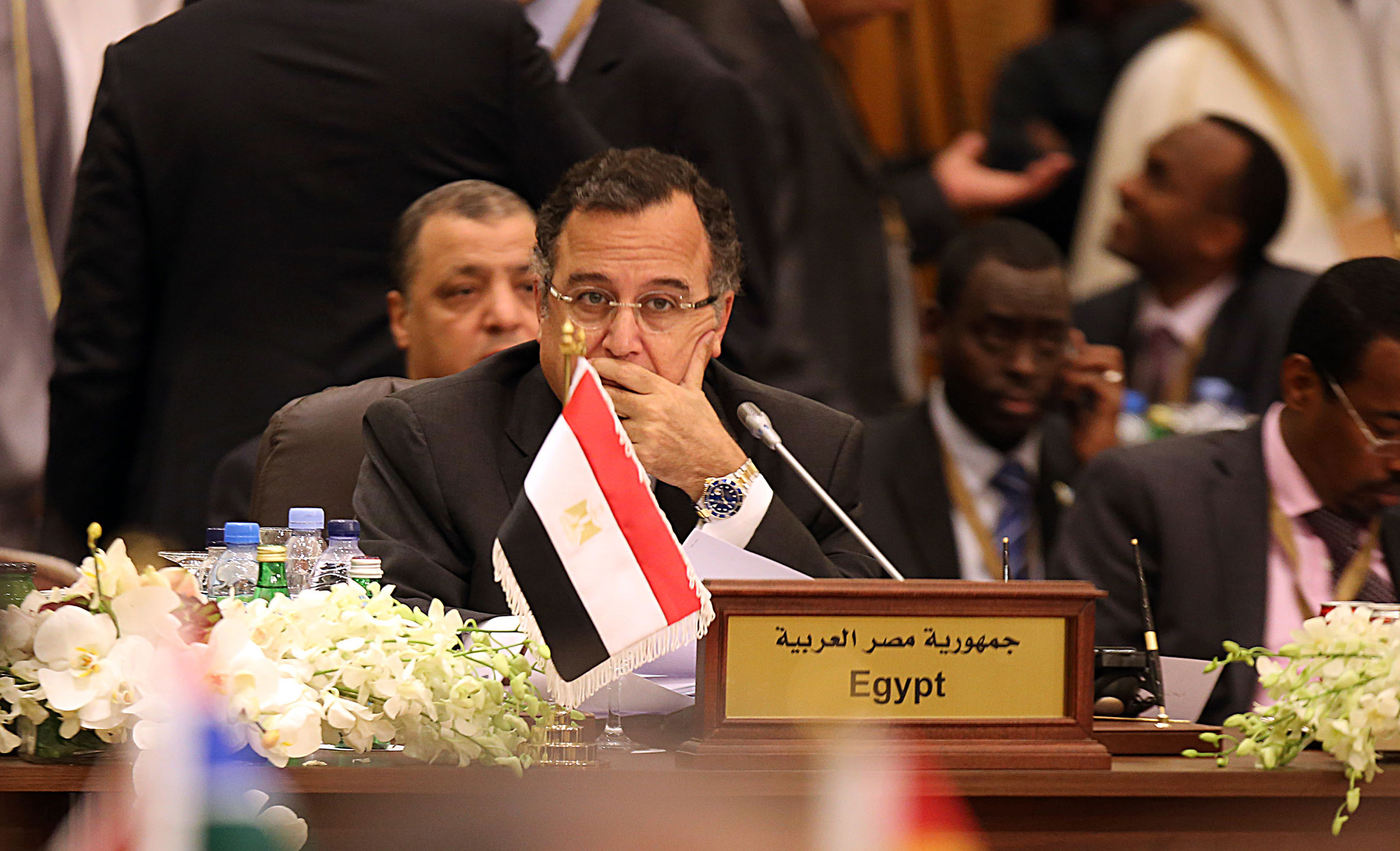 Egyptian Foreign Minister Nabil Fahmi attends the Arab-African Foreign Ministers meeting in Kuwait city on November 17, 2013. (AFP PHOTO/YASSER AL-ZAYYAT)