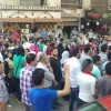 Protests erupted in Giza on Monday Asmaa Gamal