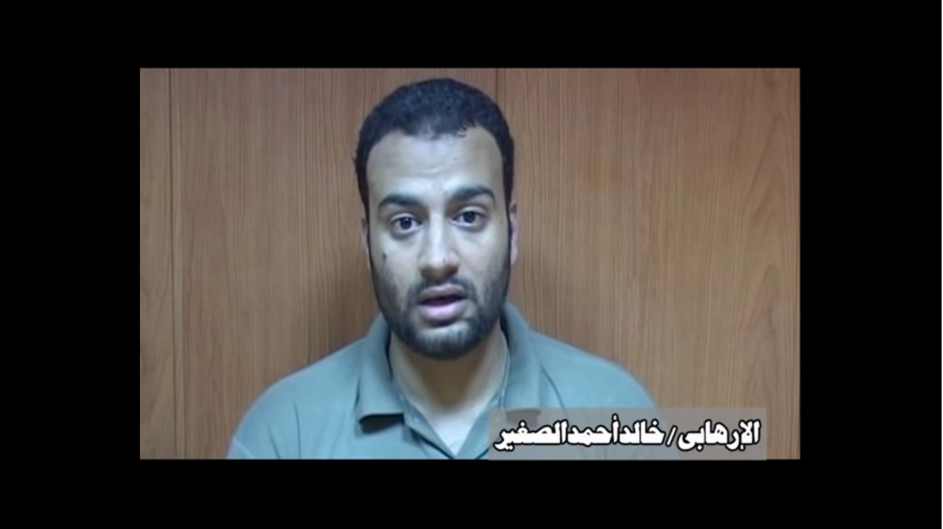 The Ministry of Defence's latest video presents numerous individuals speaking of participating in a terrorist cell organised by the Muslim Brotherhood, but relatives and activists worry their testimonies may have been elicited under duress (credit: Ministry of Defence)