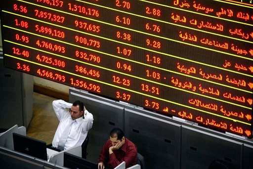 The total value traded in the Egyptian Stock Market (EGX) in the fourth quarter (Q4) of fiscal year (FY) 2014/2015 has recorded EGP 48.7bn. (AFP Photo / Mahmoud Khaled)