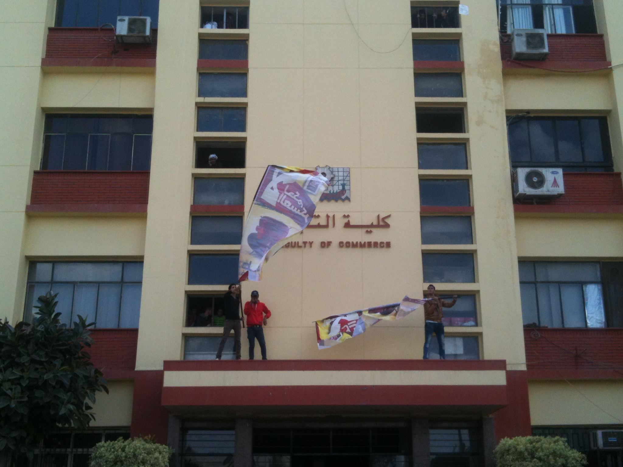Students Against the Coup take over the Faculty of Commerce at Ain Shams University (Photo by AbdelHalim H. AbdAllah)
