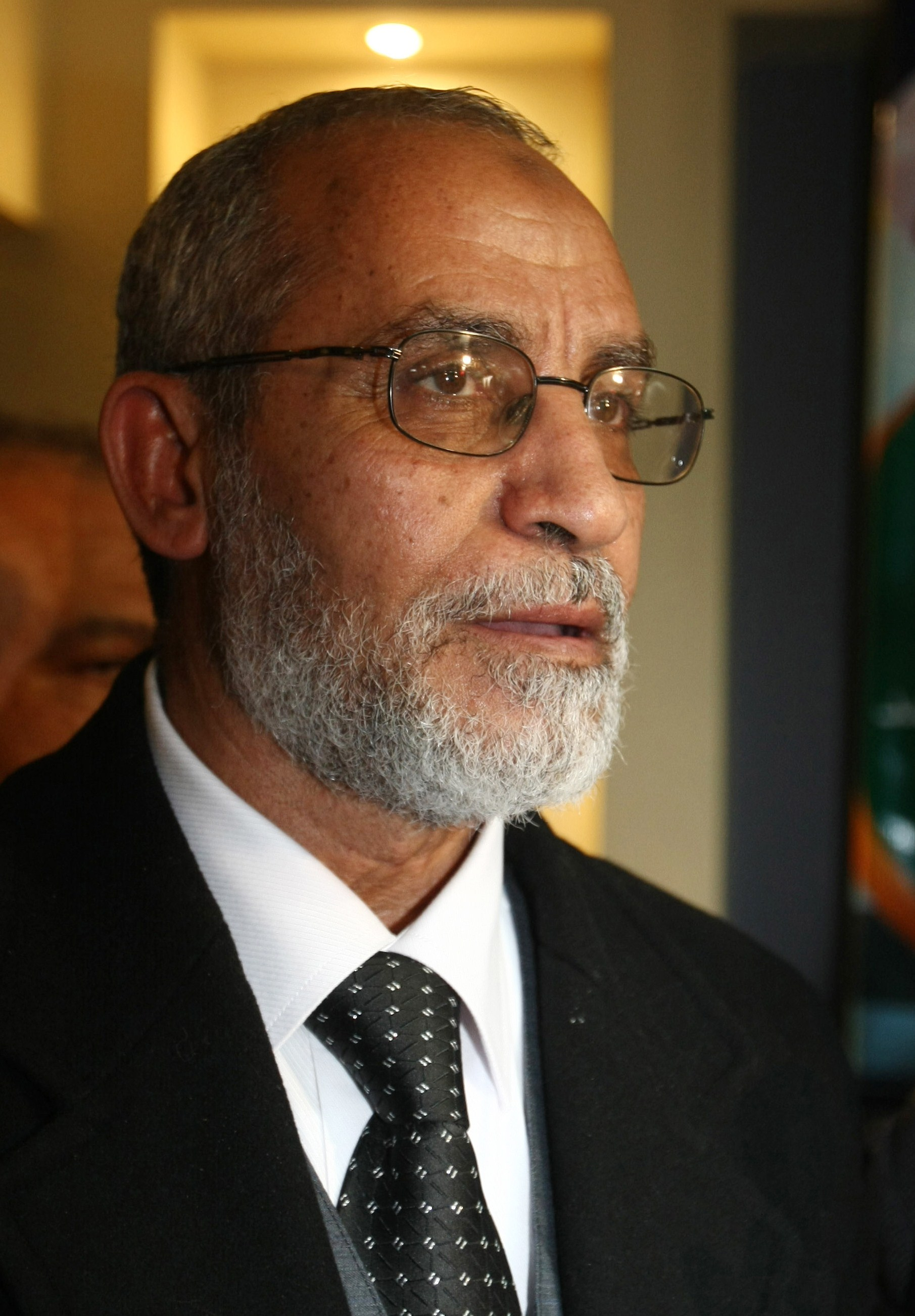Supreme Guide of the Muslim Brotherhood Mohamed Mohamed Badie. (AFP File Photo)