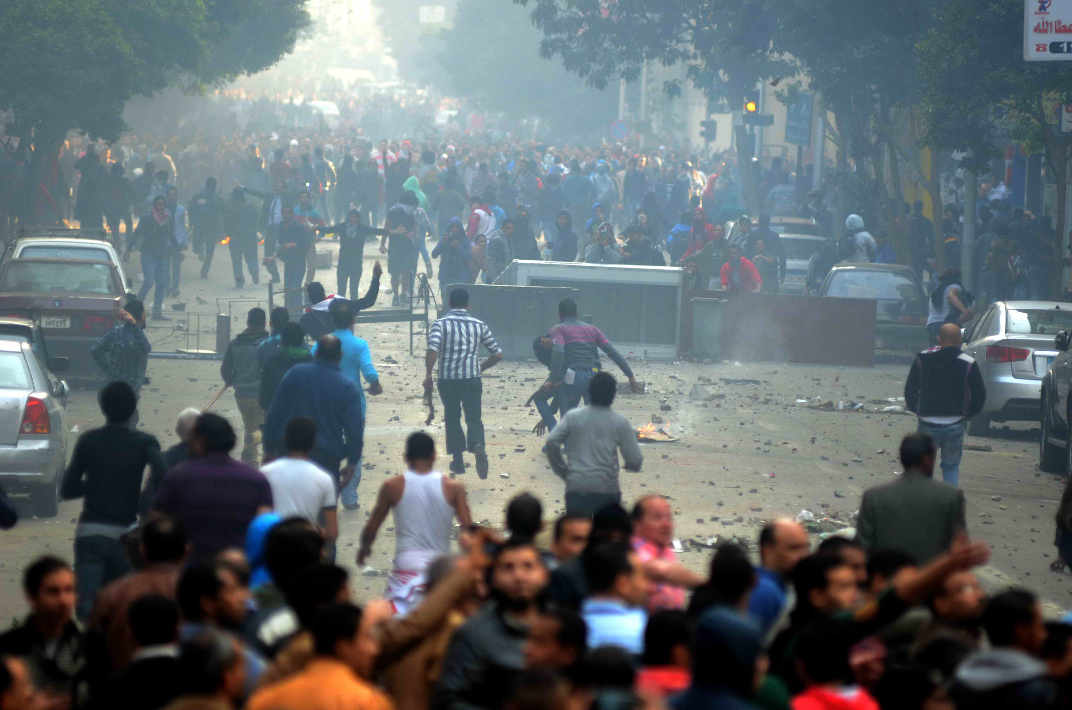 The third anniversary of the 25 January uprising was marred by violence in downtown Cairo and other parts of the country (Photo by Ahmed Al-Malky)