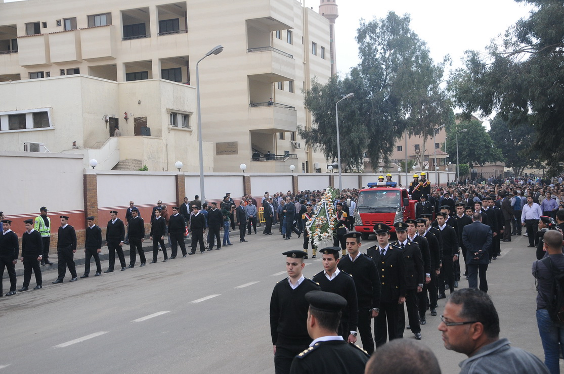The funeral for the slain Homeland Security officer was held on Monday. (Ahmed Al-Malky)