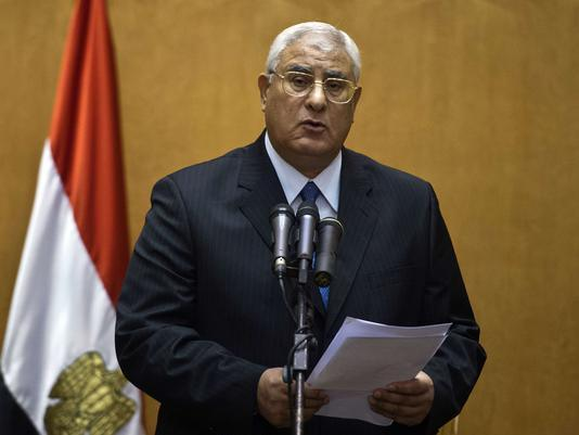 Interim president Adly Mansour imposes curfew and declares state of emergency
