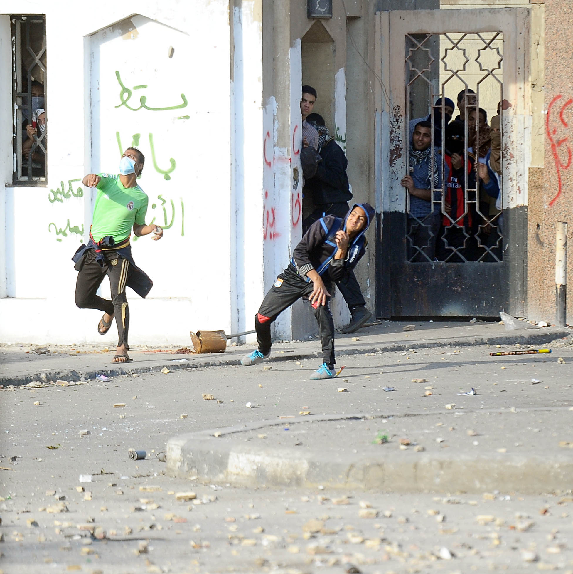 Clashes erupted by Al-Azhar University on Friday between protesters and security forces Ahmed Al-Malky