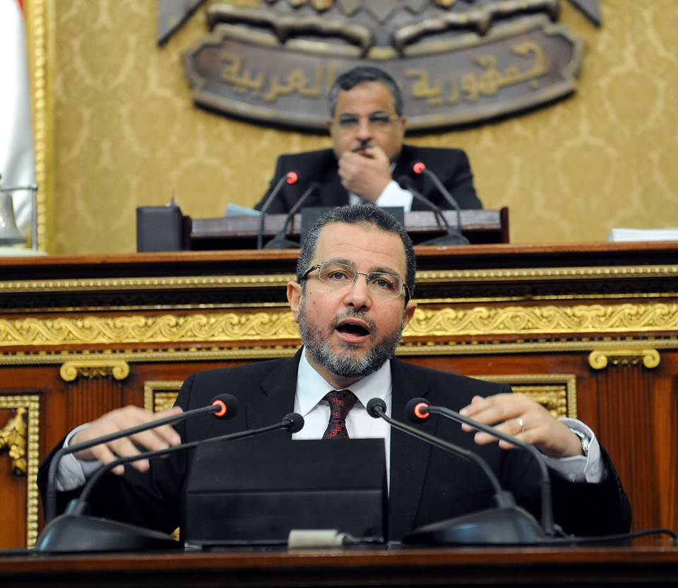 Prime Minister Hisham Qandil discusses Egypt's options in dealing with the Ethiopian Renaissance Dam during a speech to the Shura Council on Monday (Photo Cabinet handout)