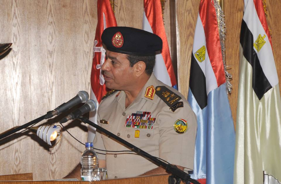 Minister of Defence Abdel Fattah Al-Sisi made controversial statements about interfering in internal politics (Photo from Official Facebook page of the Minister of Defence)