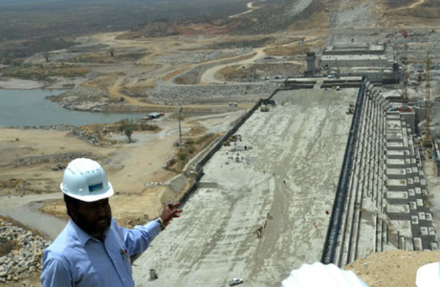 The Great Ethiopian Renaissance Dam site on the Blue Nile river (Photo Public Domain)