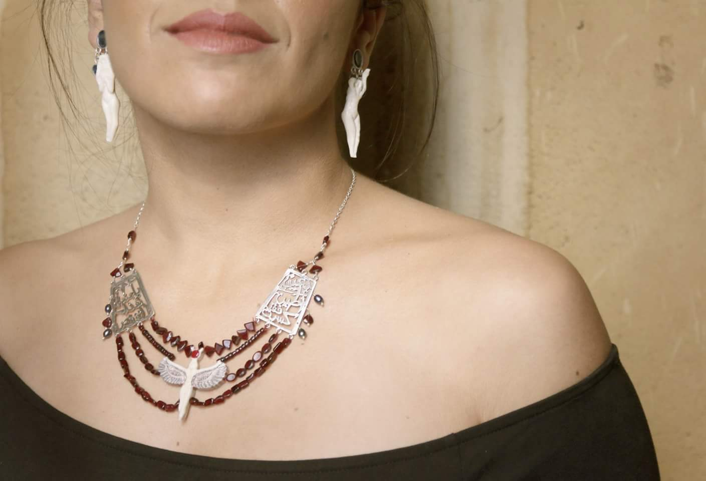 """My materials varied based on each story; yet, I mainly depended on sterling silver and copperwhile incorporating many rare precious stones that could hardly be found in Egypt,"" said Khalil. (Photo Handout)"
