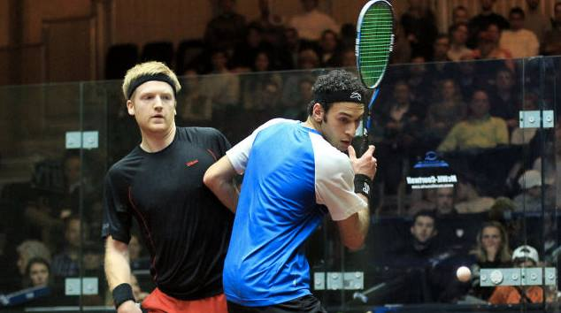 Marwan Elshorbagy claimed his first tournament title of 2014, beating Canada's Shawn Delierre in the VII Torneo Internacional Sporta in Guatemala (Photo Courtesy of the Professional Squash Association )