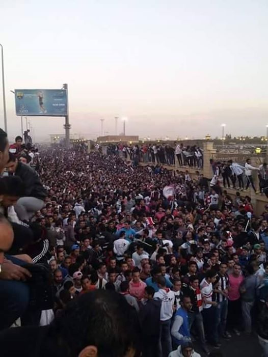The deaths took place before the match as fans were attempting to enter the Air Defence Stadium, before the 8 February Zamalek SC and ENPPI football match. (Photo Public Domain)