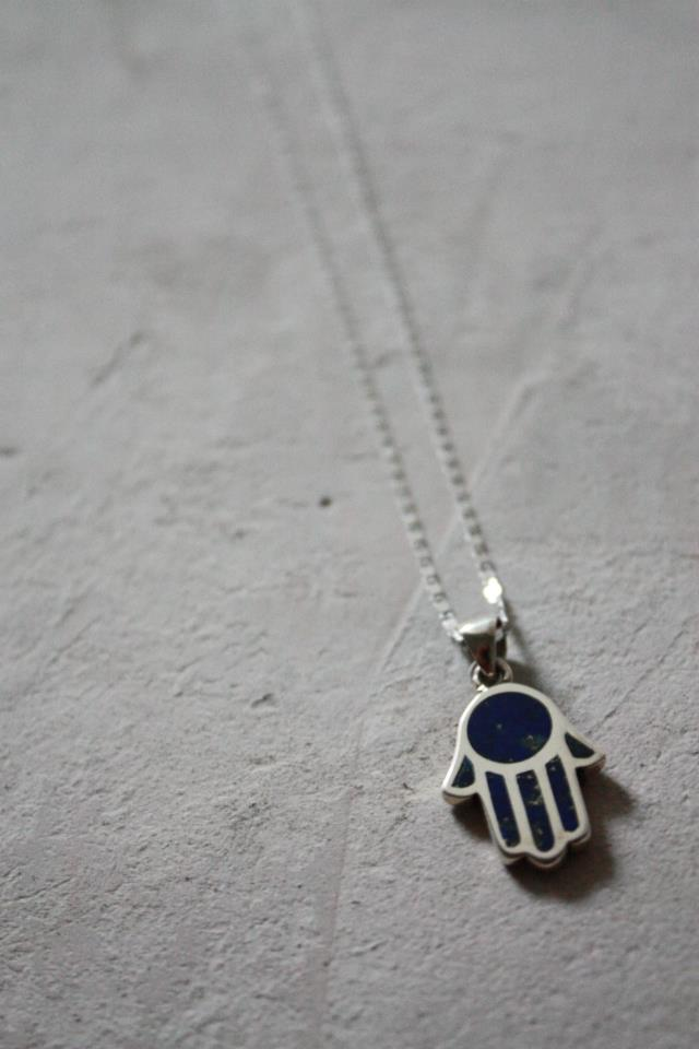 A Kef pendant in sterling silver inlaid with lapis lazuli (Photo from Adam Elwan Design)