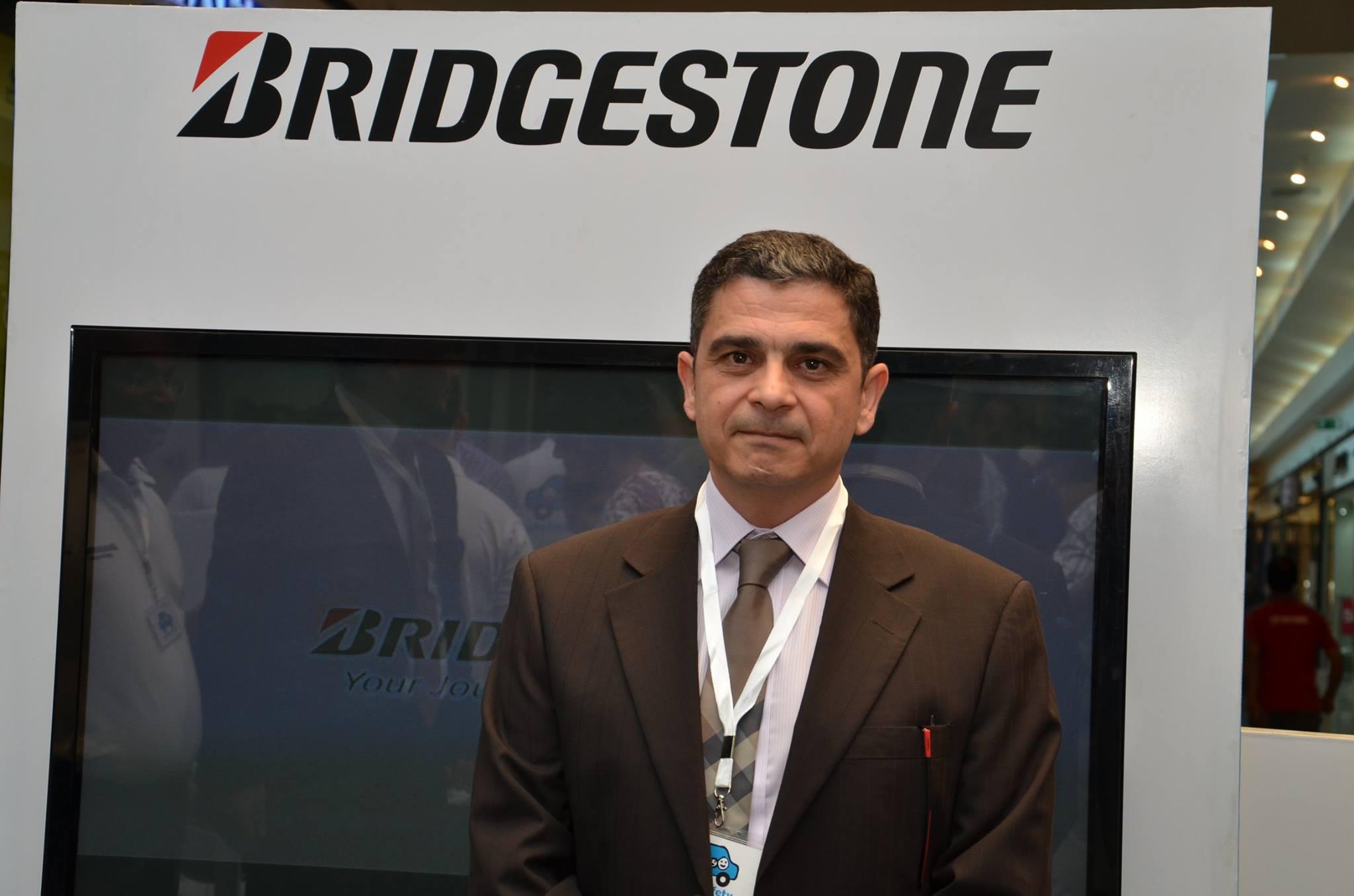 Ahmed Yehia, Bridgestone's North Arab & Africa Branch General Manager Hassan Abdel Meguid, Head of the EOS (Photo handout from Bridgestone)